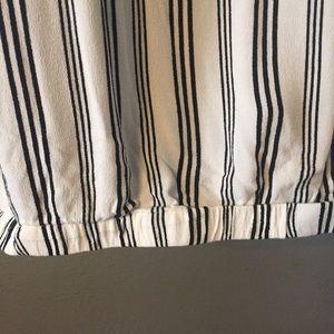 torrid Tops - Torrid Black and White Striped Wrap Shirt